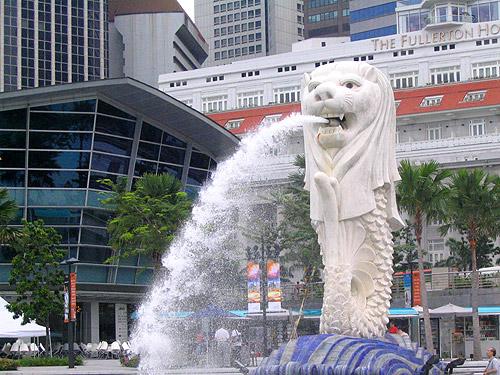 Parque Merlion en Singapur