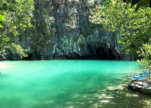 Río Subterraneo de Puerto Princesa en Filipinas