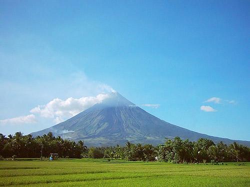 Volcán Mayón en las Filipinas